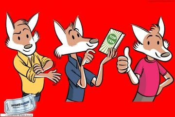 Cartoon Comic Fox Character for Company