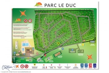 Site Plan and Signage  - Map and Icon Design