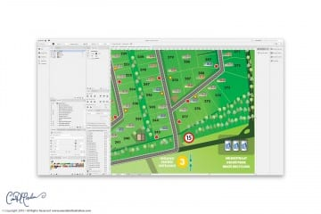 Vector Site Plan - Map and Icon Design