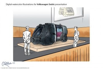 Black Version - Volkswagen Sedric Concept Illustrations