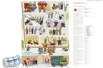Comic Illustration for Company Publication