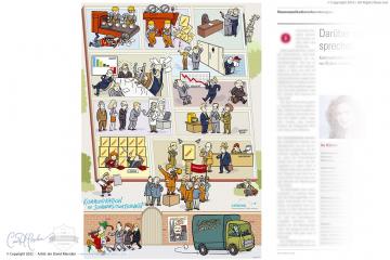 Comic Illustration for Company Publication