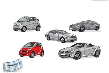 Illustration for Mercedes Benz