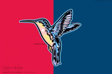 Vector Art Hummingbird