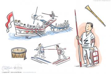 Joute Sports Illustrations for Magazine