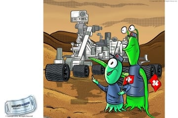 The mars rover meets Swiss aliens