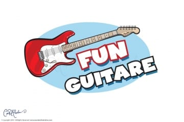Fun Guitare Logo - Fender Guitar Vector Illustration