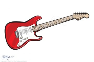 Fender Guitar Vector Illustration