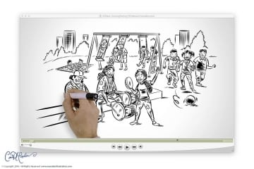 AllStars - Whiteboard Video illustration and animation