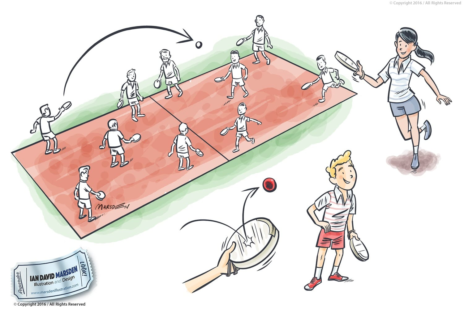 Tambour Sports Illustrations for Magazine