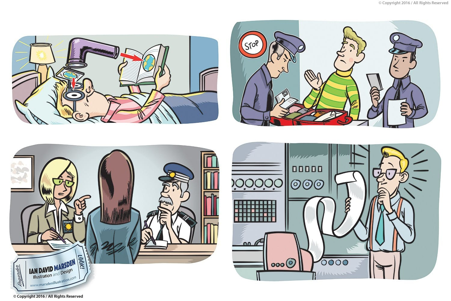 Illustrations for Educational Material
