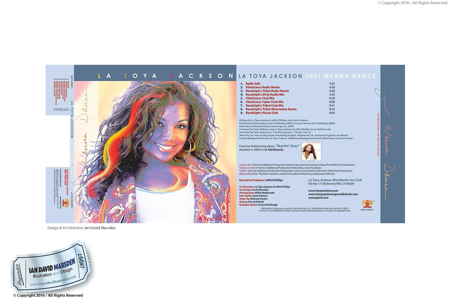 La Toya Jackson album cover design