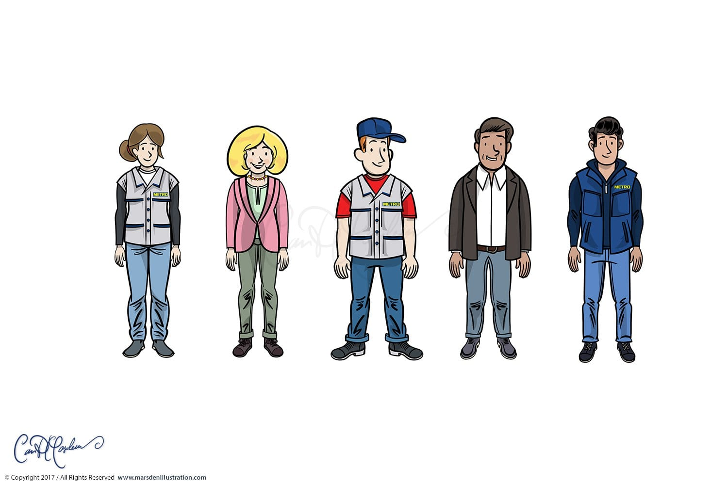 Clean Vector Characters and Avatars