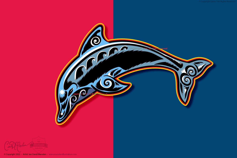 Vector Art Dolphin