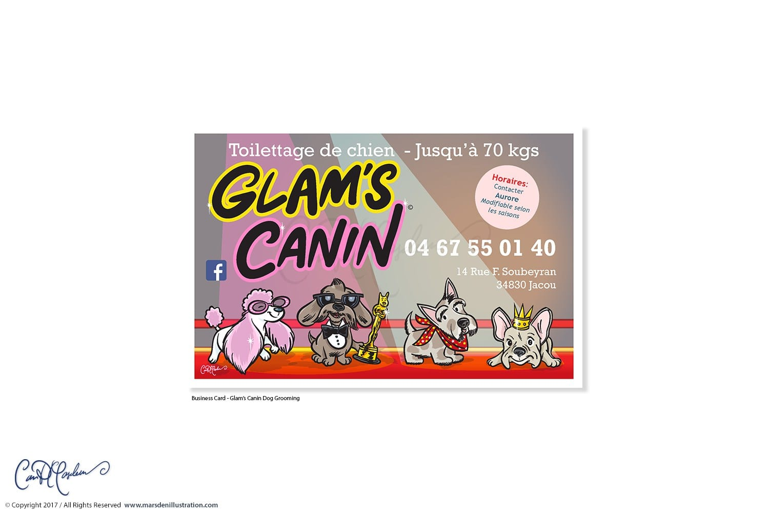 Glam's Canin Business Card Design