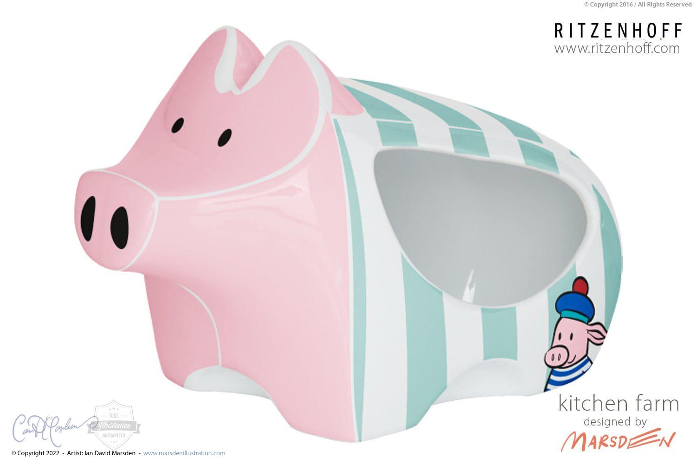 RITZENHOFF Pig Character Design