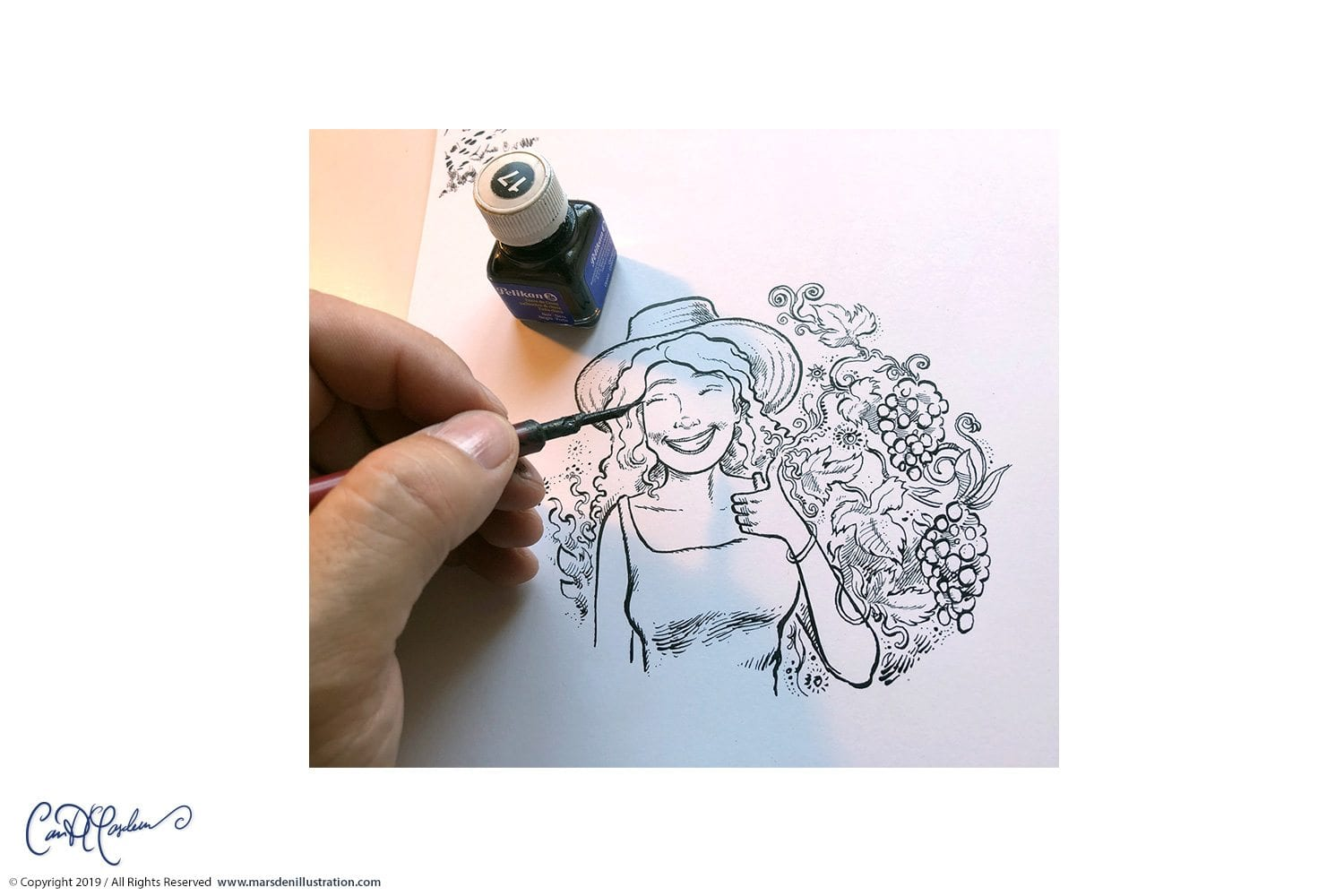 Dip Pen and Ink - old fashioned artwork