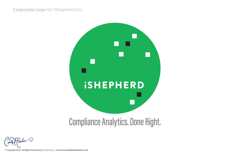 iShepherd Inc. Logo Design - Round Version