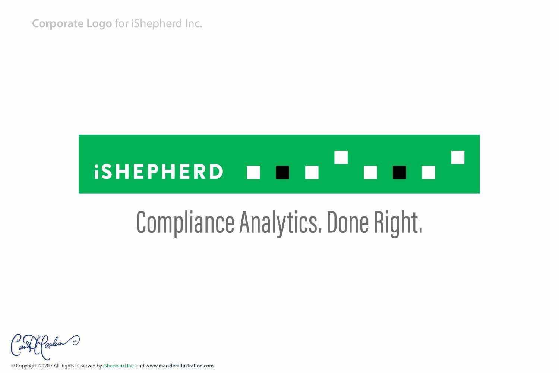 iShepherd Inc. Logo Design - Horizontal Version