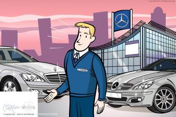 Illustration for Mercedes Benz