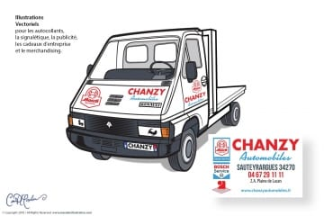 Renault Camion vectoriel illustration