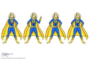 Female Superhero character avatar