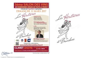 Heritieres Wine Salon Logo