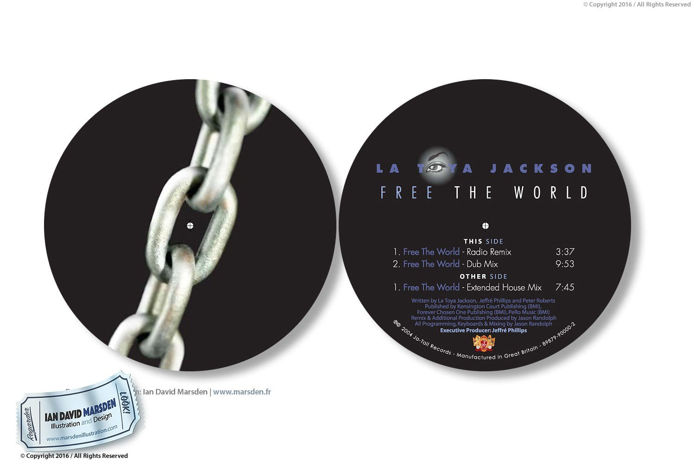 La Toya Jackson Toy Eye Logo and CD Design