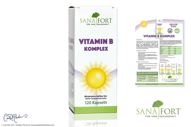 VITAMIN B Packaging and CI Design Sanafort