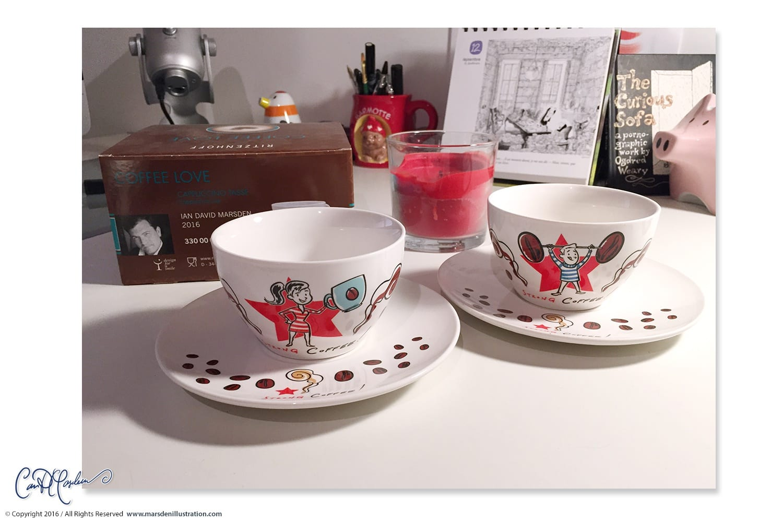 Cappuccino Cups for Ritzenhoff by Marsden