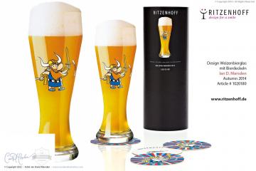 RITZENHOFF Viking Weizenbeer Glass by Marsden