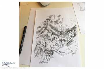 Freehand pen doodling