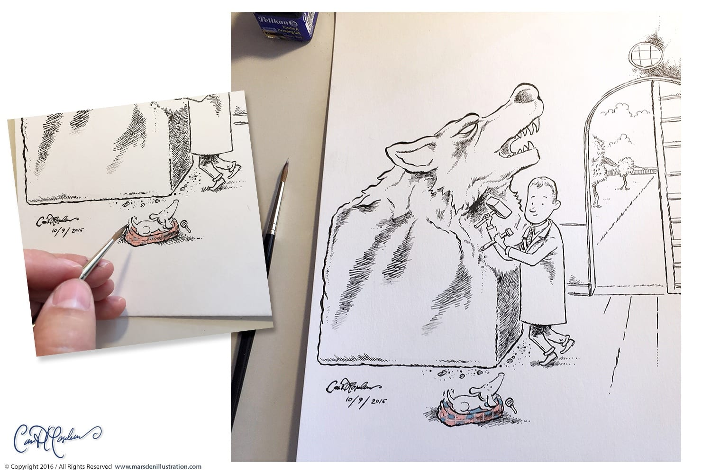 wolfstatue-sketchbook-marsden