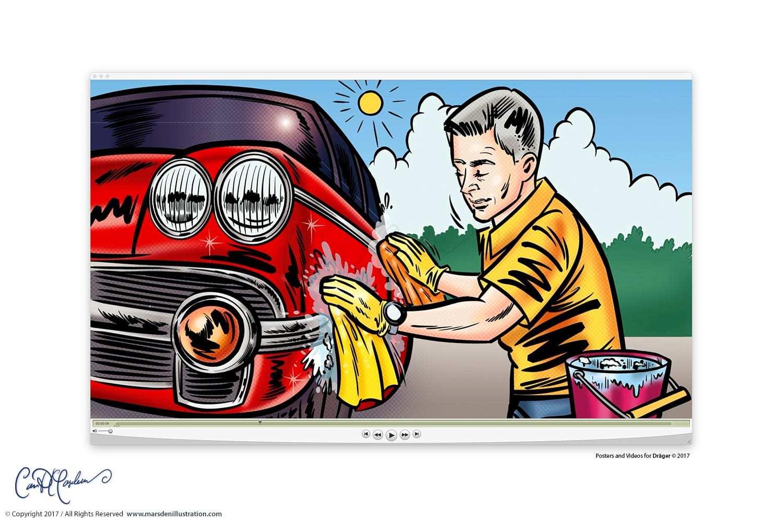 Dräger Comic Pop Art Video + Poster
