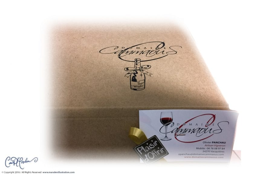 Decorative Logo for Wine Gift Boxes