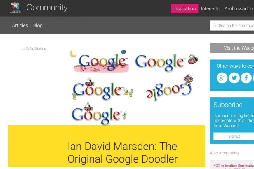 Wacom Americas Ian David Marsden - The Original Google Doodler