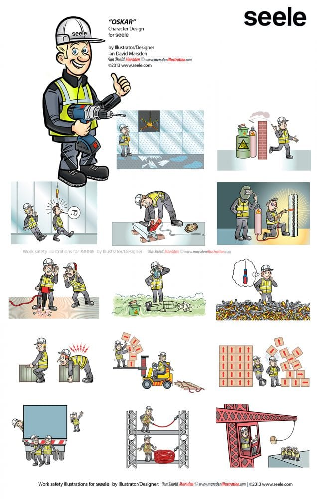 Work Safety Illustrations for Seele