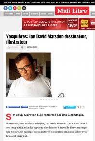midilibre article sur ian david marsden illustrateur, dessinateur