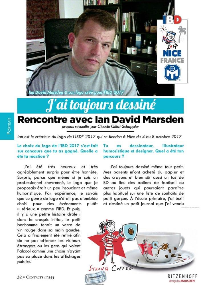 Interview with artist, designer and illustrator Ian David Marsden - Contacts Magazine (MENSA)