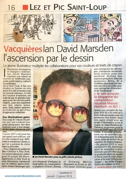 Midi Libre: Ian David Marsden - L'ascension par le dessin