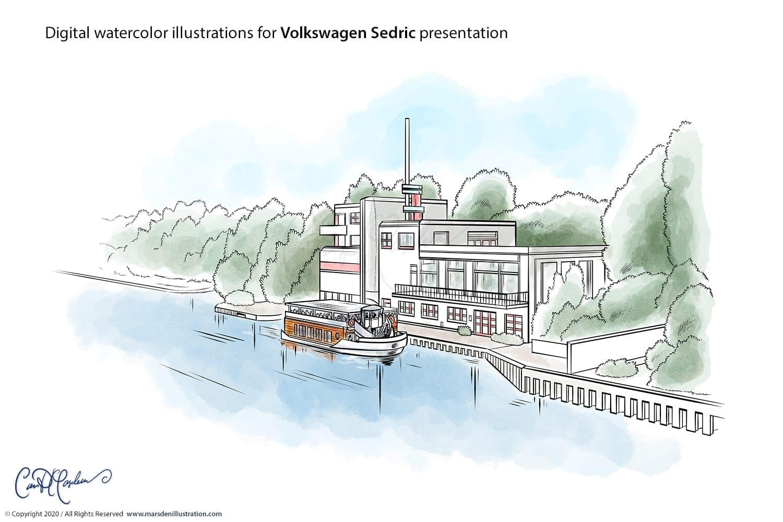 Volkswagen Sedric Concept Illustrations
