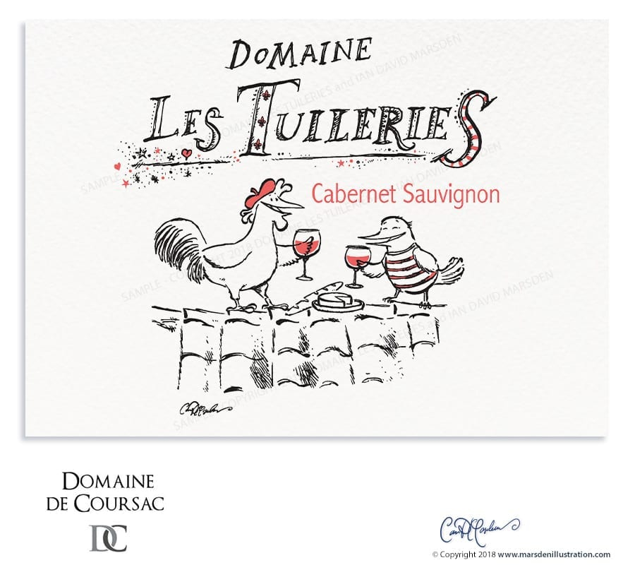 Wine Label Design - Domaine Les Tuileries
